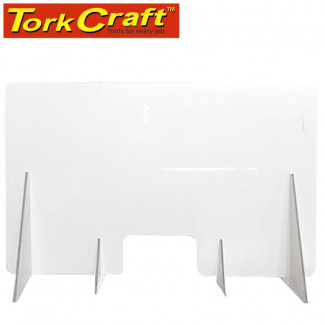 ACRYLIC COUNTER SCREEN G 1200X750MM WITH SLOT