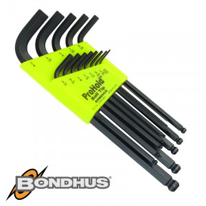 BALL END L-WRENCH 13PC SET 0.50-3/8' PROHLD