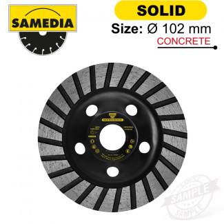 DIAMOND CUP WHEEL 102MM X 22.23 IND. SPECIAL SOLID STS