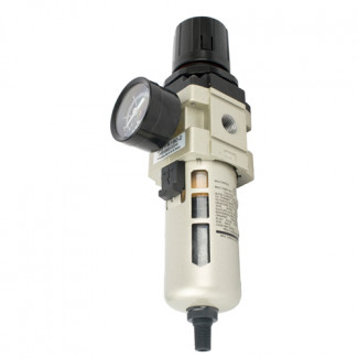 FILTER / REGULATOR 1/4' IN LINE WITH AUTO DRAIN