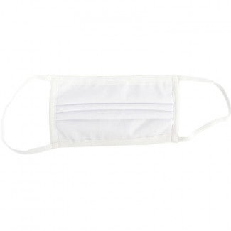 POLYPROP/POLYEST/COTTON 4 X LAYER FACE MASK WASH/RE-USEABL WHITE