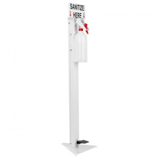 FREE STANDING SANITIZING DISPENSER WITH EMPTY 1L BOTTLE