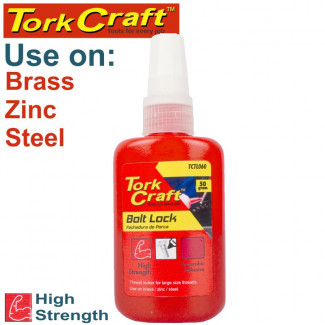 BOLT LOCK HIGH STRENGTH FOR LARGE SIZED THREADS - RED - 50G