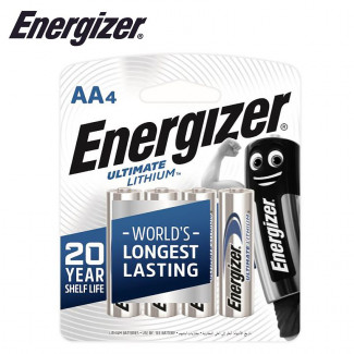 ENERGIZER ULTIMATE LITHIUM:  AA - 4 PACK (MOQ6)